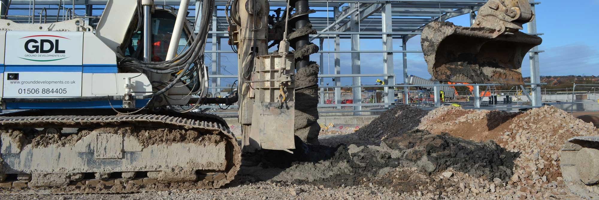 Ground Developments Equipment conducting cfa piling