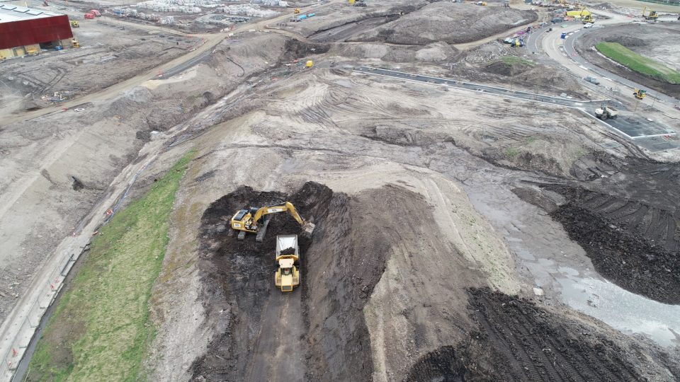 GDL working on-site at the gap sites of the Sighthill Transformational Regeneration Area in Glasgow.