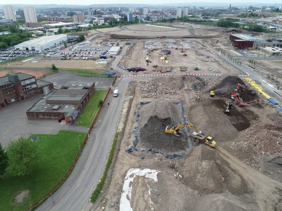GDL delivering soil stabilisation for the gap sites of the Sighthill Transformational Regeneration Area in Glasgow.