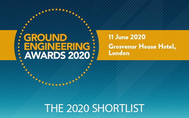 We are shortlisted for national ground engineering award